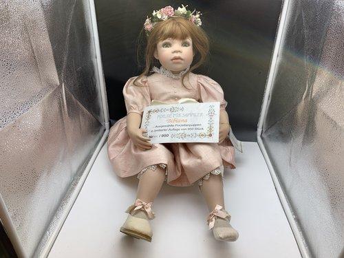 Top Zustand Künstlerpuppe Porzellan Puppe 49 Cm Dolls & Bears