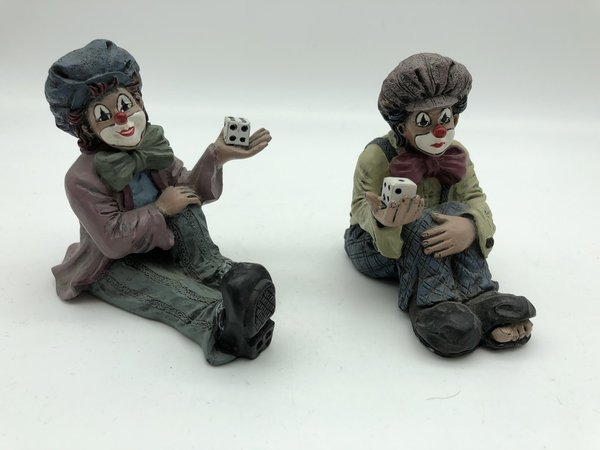 2x Gilde Clown je. 7,7 cm. Top Zustand